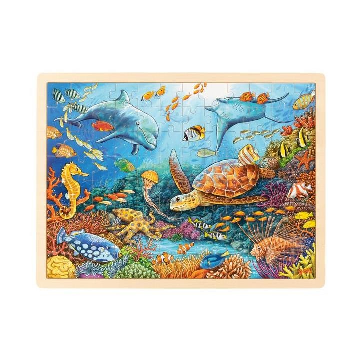 Goki Einlegepuzzle Great Barrier Reef 57432 3+ Holz