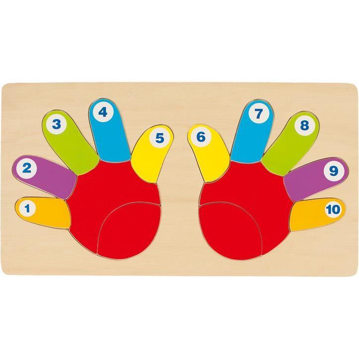 Goki Einlegepuzzle Hände 57875 2+ Holz