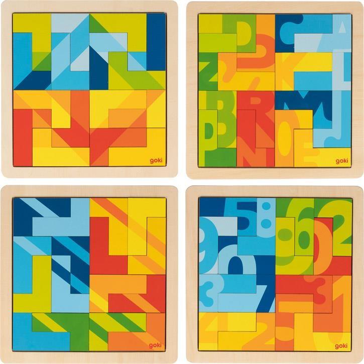 Goki Einlegepuzzle L, 1 Stück,  3+ Holz