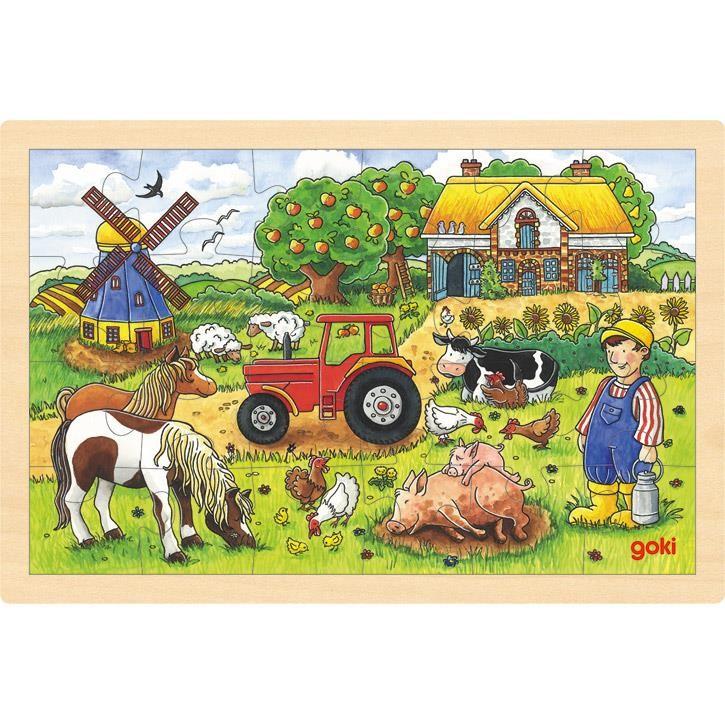 Goki Einlegepuzzle Müllers Farm 57891 3+ Holz