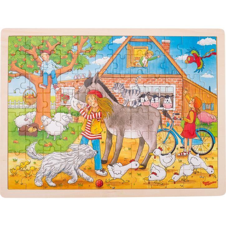 Goki Einlegepuzzle Peggy auf dem Bauernhof, Peggy Diggledey 57742 3+ Holz