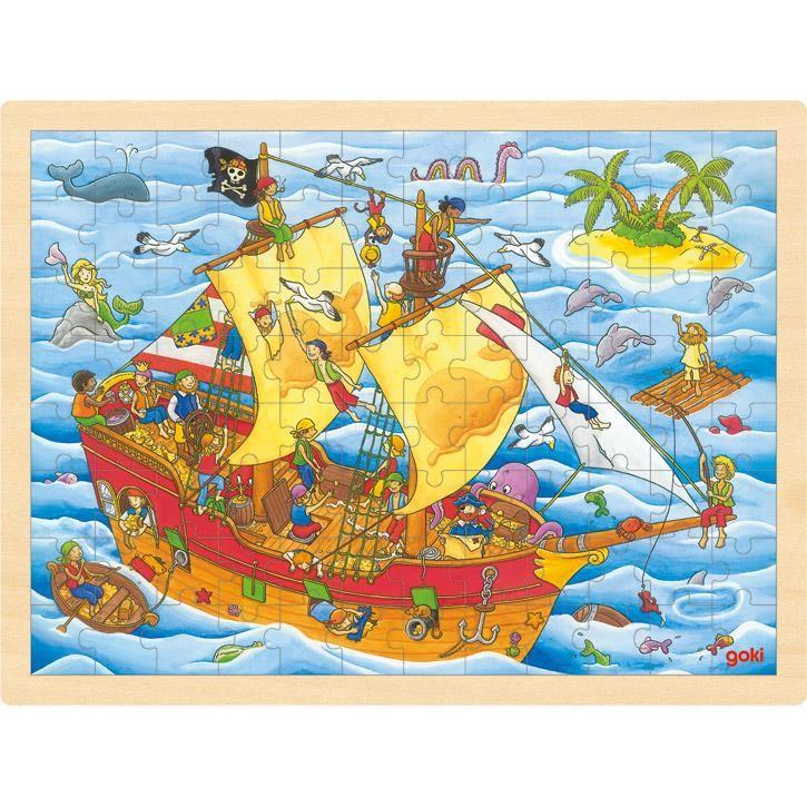Goki Einlegepuzzle Piraten 57831 3+ Holz