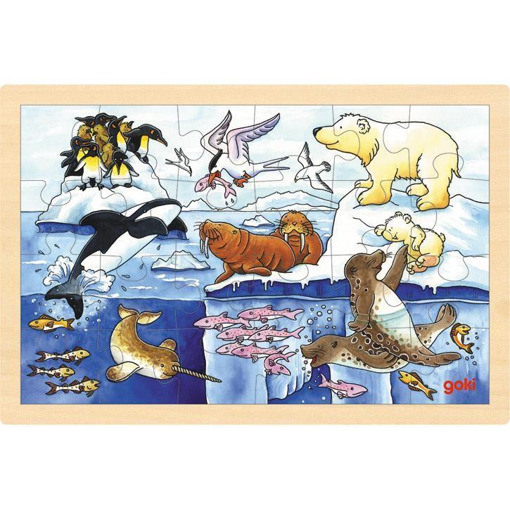 Goki Einlegepuzzle Polartiere 57889 3+ Holz