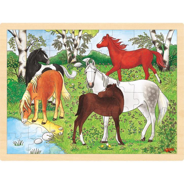 Goki Einlegepuzzle Ponyhof 57894 3+ Holz