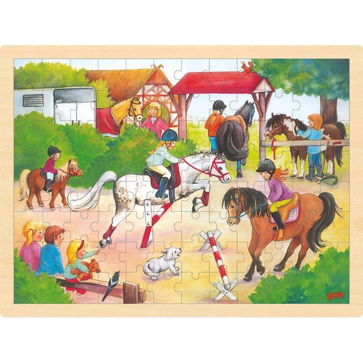 Goki Einlegepuzzle Reitturnier 57669 3+ Holz