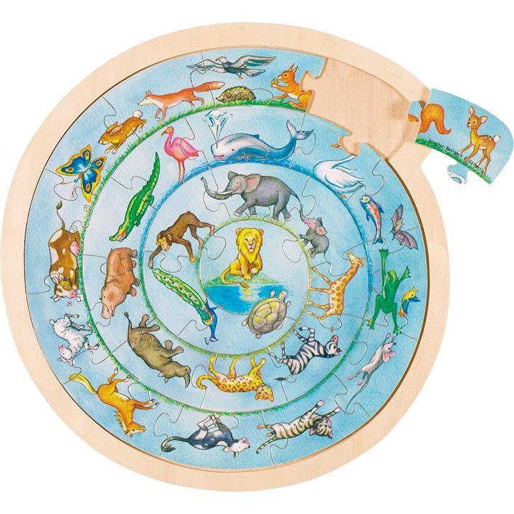 Goki Einlegepuzzle Tierkreis 57790 3+ Holz