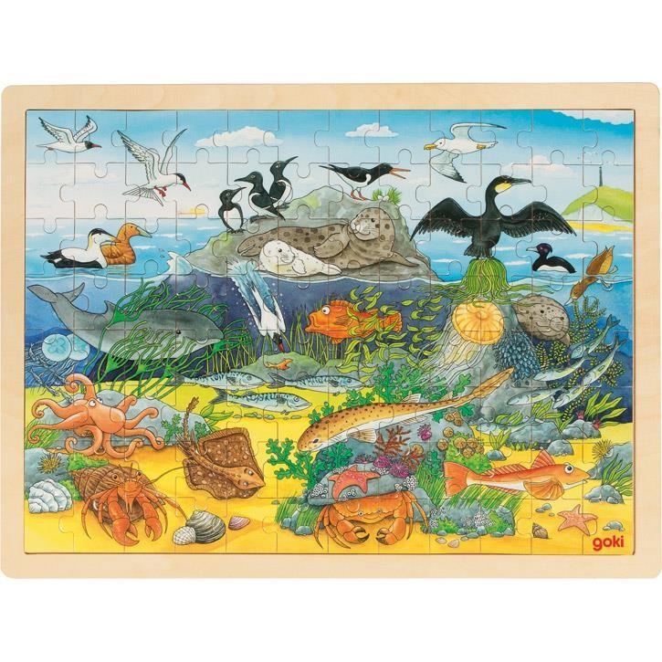 Goki Einlegepuzzle Über und unter Wasser 57703 3+ Holz