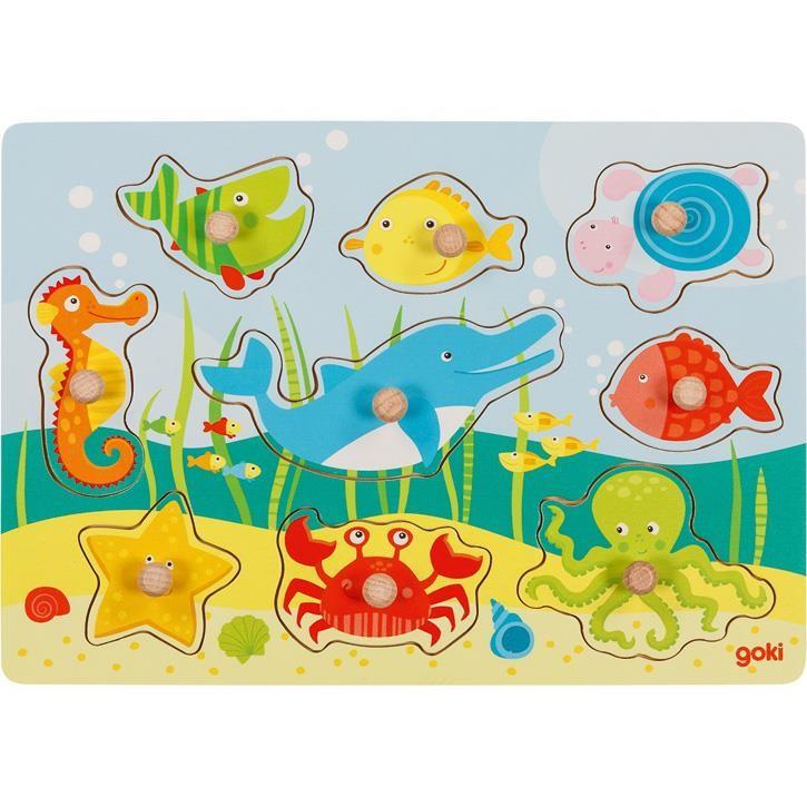 Goki Einlegepuzzle Unterwasserwelt II 57396 1+ Holz