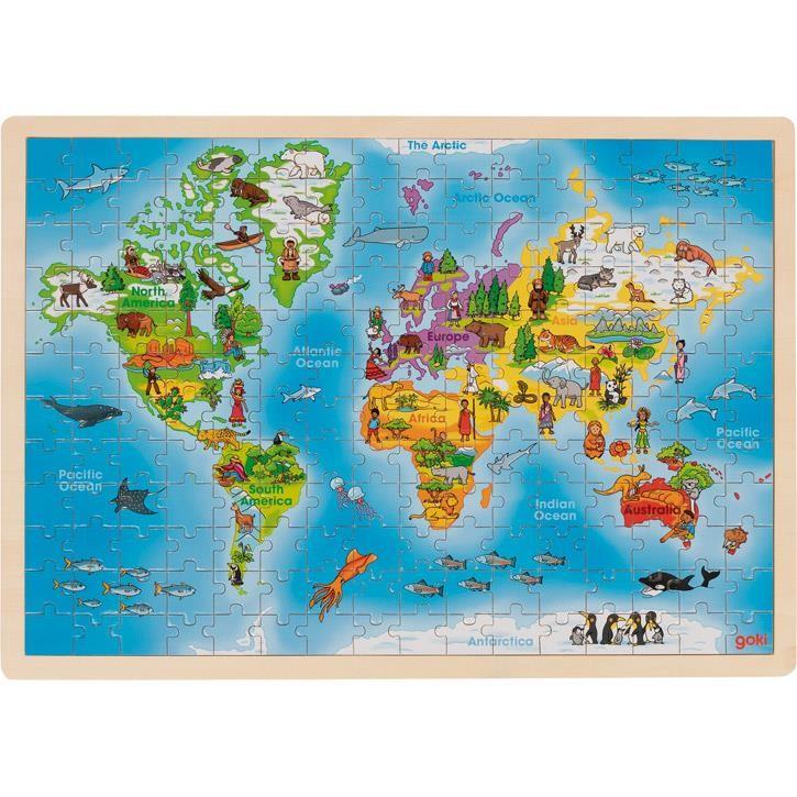 Goki Einlegepuzzle Welt 57460 4+ Holz