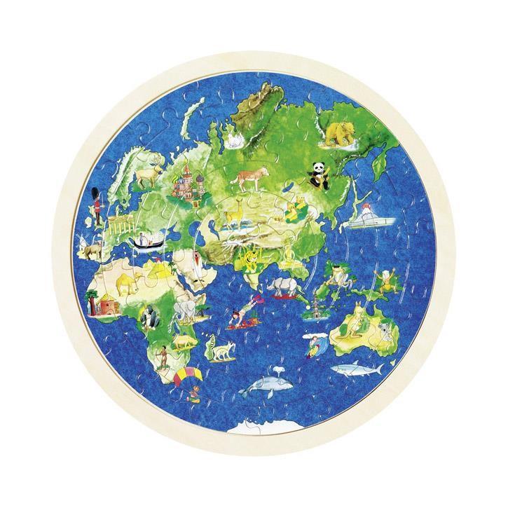 Goki Einlegepuzzle Weltkugel 57666 6+ Holz
