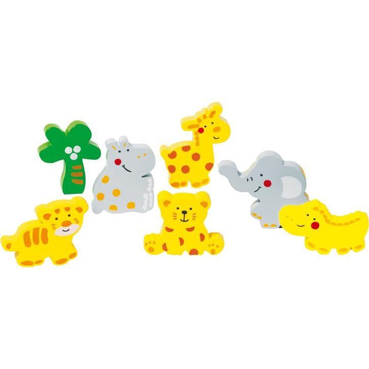 Goki Einlegepuzzle Wilde Tiere 57809 2+ Holz