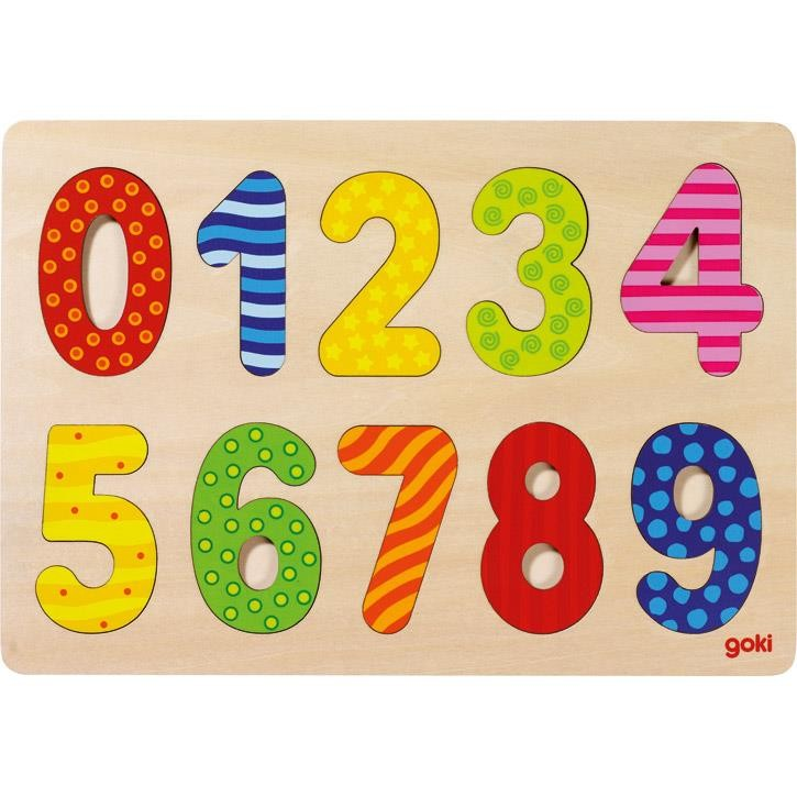 Goki Einlegepuzzle Zahlen 0-9 57574 2+ Holz