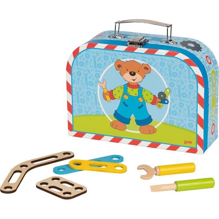 Goki Fahrzeug-Baukasten im Koffer 58737 4+ Holz, Pappe