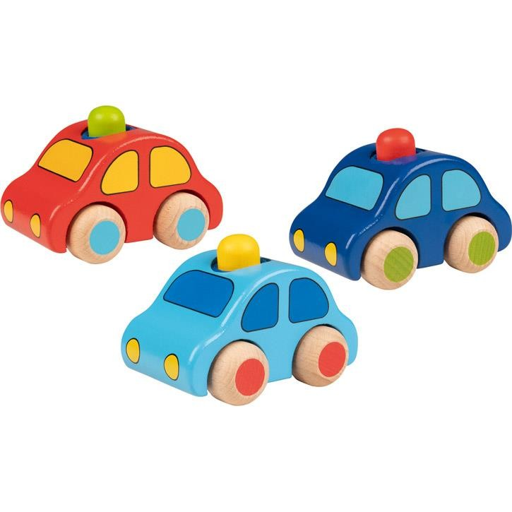 Goki Fahrzeuge mit Hupe 55011 1+ Holz