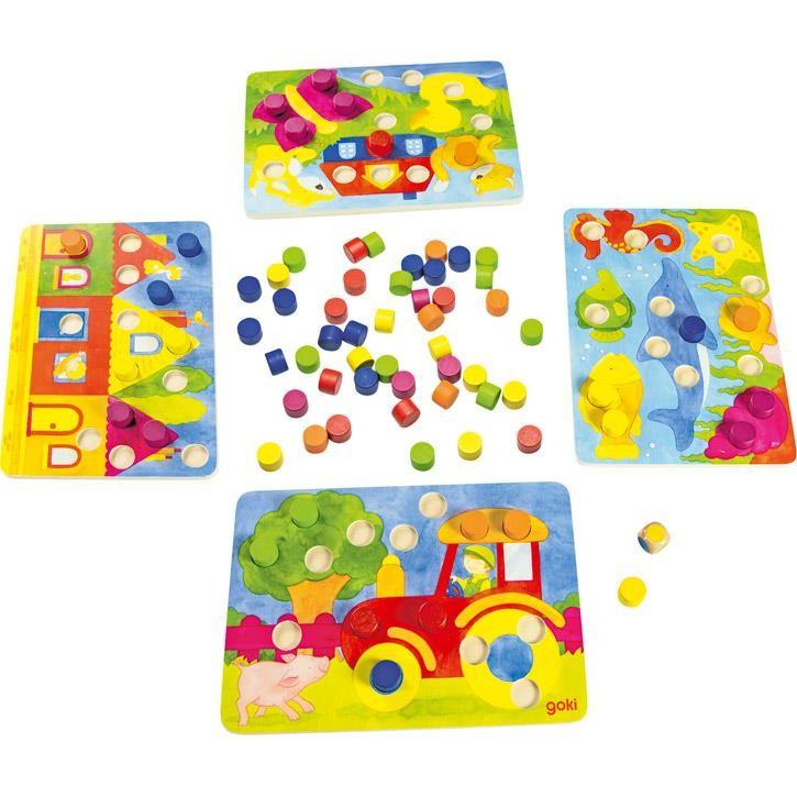 Goki Farbwürfelspiel 56705 3+ Holz