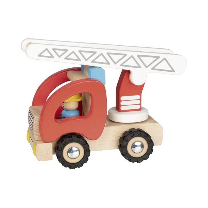Goki Feuerwehr Leiterwagen 55789 2+ Holz