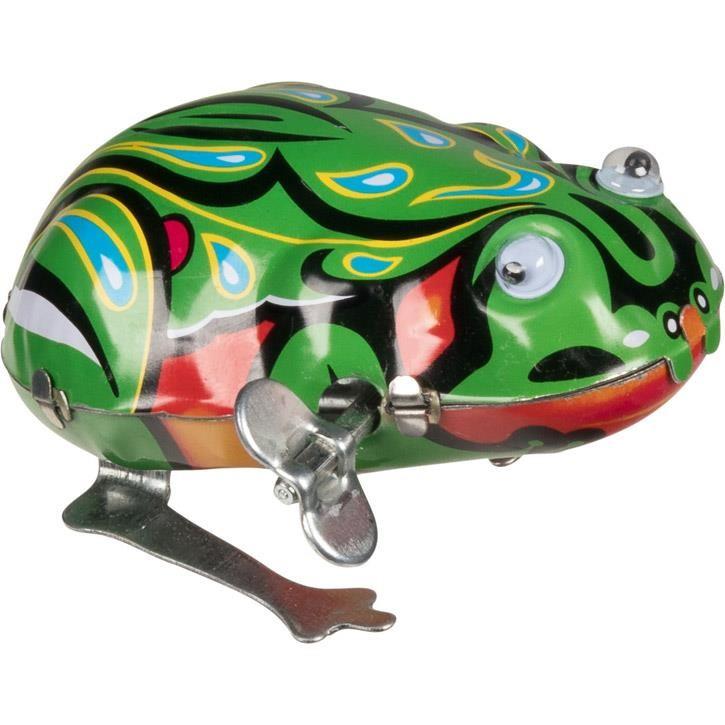 Goki Frosch mit beweglichen Augen MS082 Metall