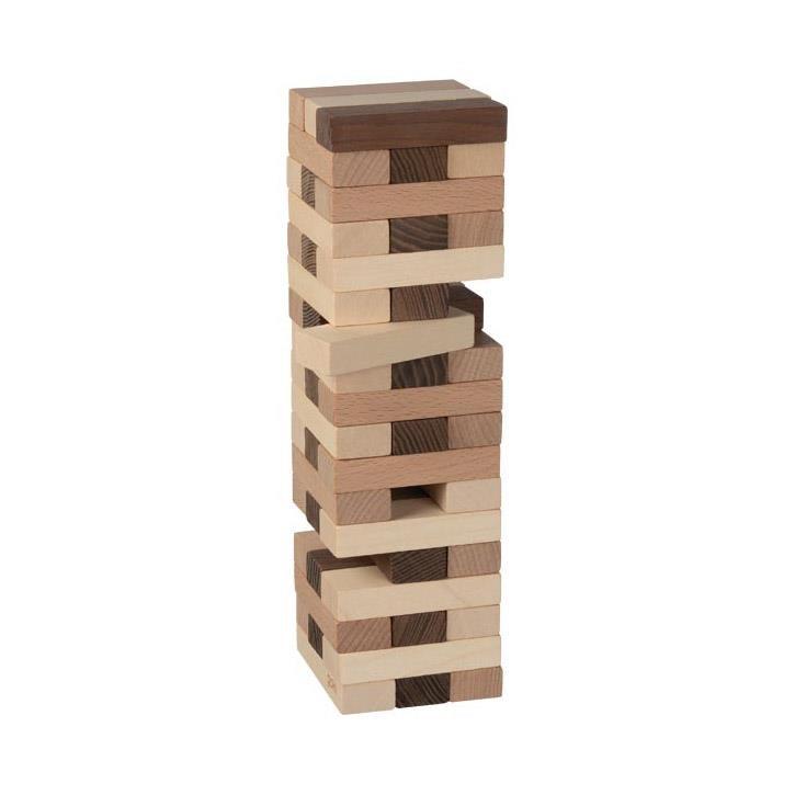 Goki Geschicklichkeitsspiel Wackelturm, goki nature 56685 4+ Holz
