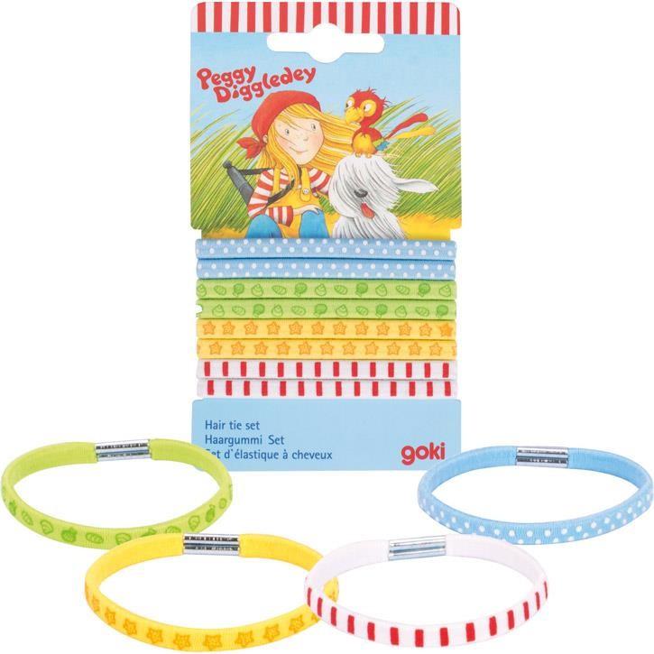 Goki Haargummi Set, Peggy Diggledey 1 Set 60840 0+ Textil