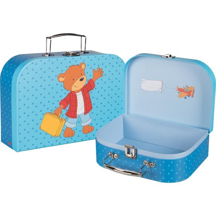 Goki Koffer, Teddybär 60730 3+ Pappe klein