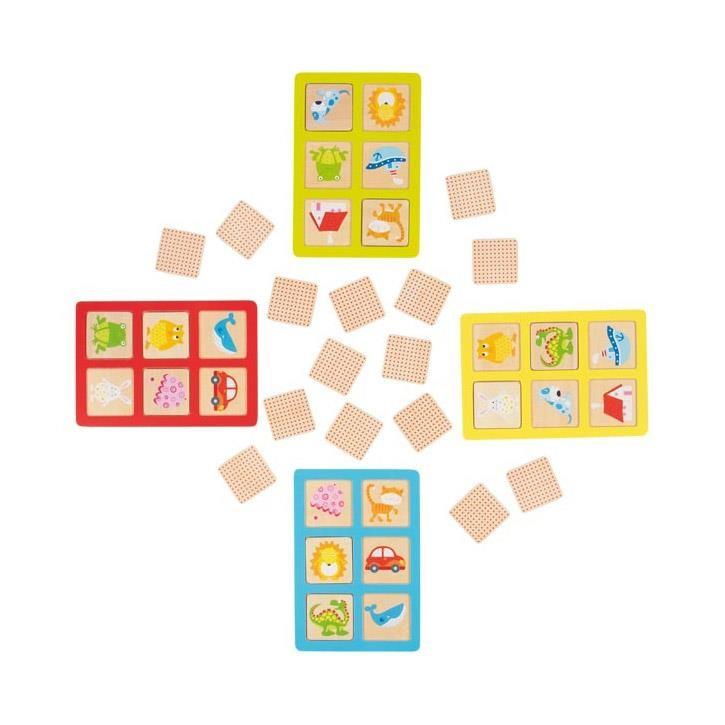 Goki Lotto und Memo 56780 3+ Holz