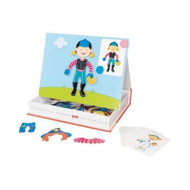 Goki Magnetspiel Verkleiden Mädchen 58723 3+ Pappe