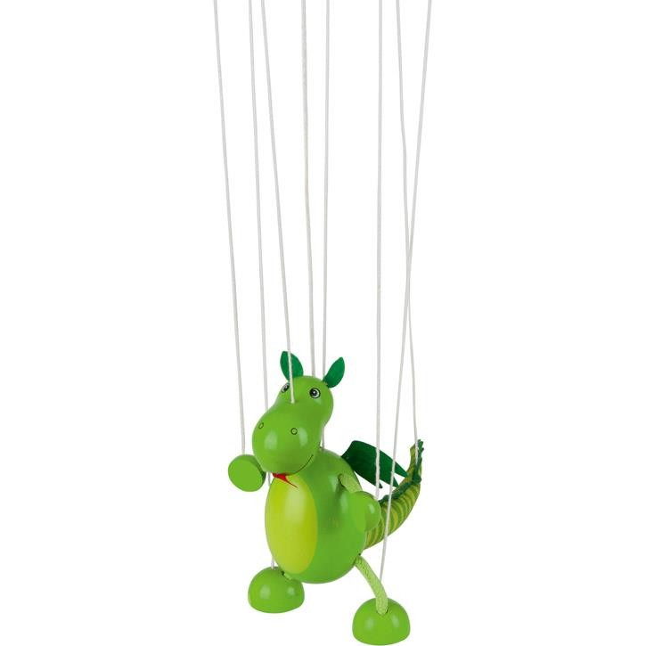Goki Marionette Dinosaurier 51754 3+ Holz, Textil