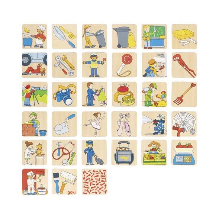 Goki Memospiel Berufe 56775 3+ Holz
