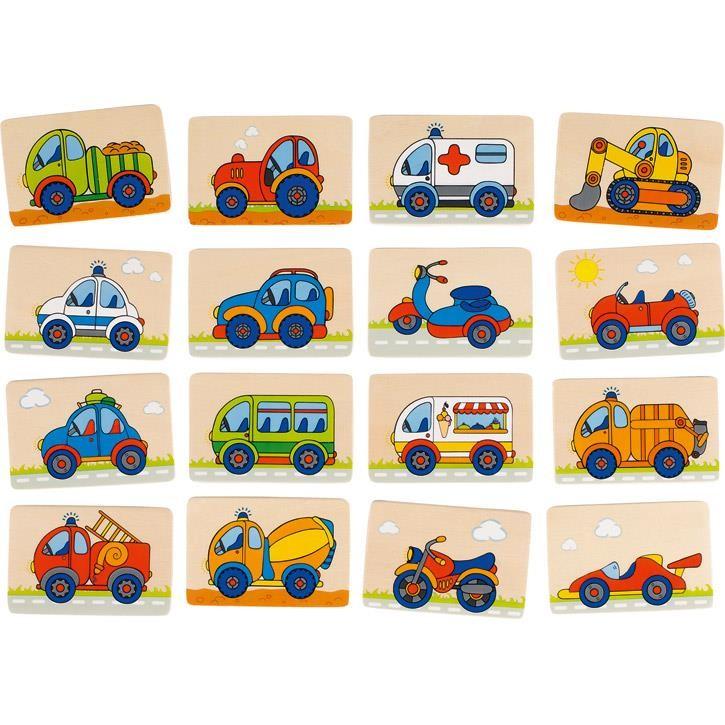 Goki Memospiel Fahrzeuge 56689 3+
