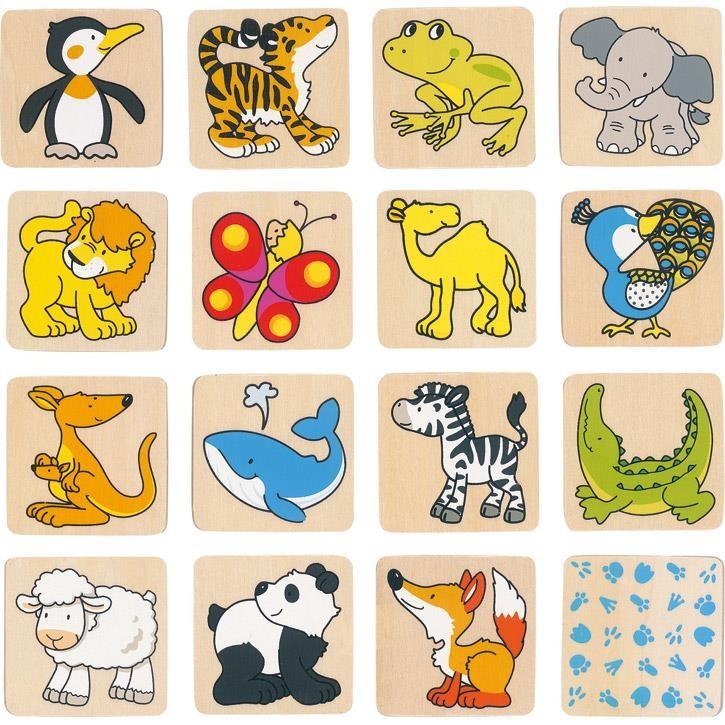 Goki Memospiel Tiere 56700 3+ Holz