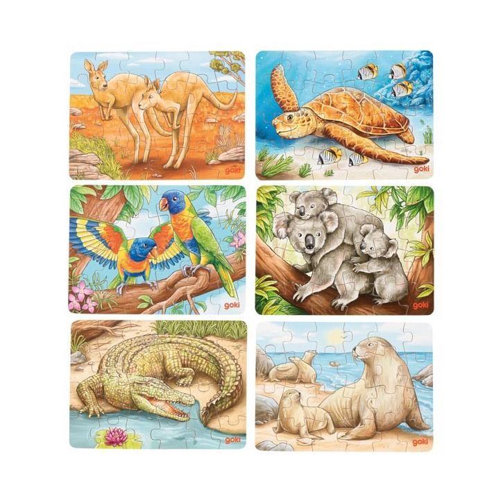 Goki Minipuzzle Australische Tiere, 1 Stück 4+ Holz