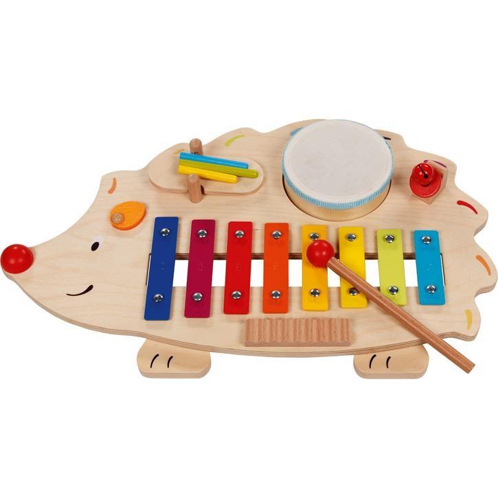 Goki Musikstation Igel mit Notenheft 61883 4+ Holz