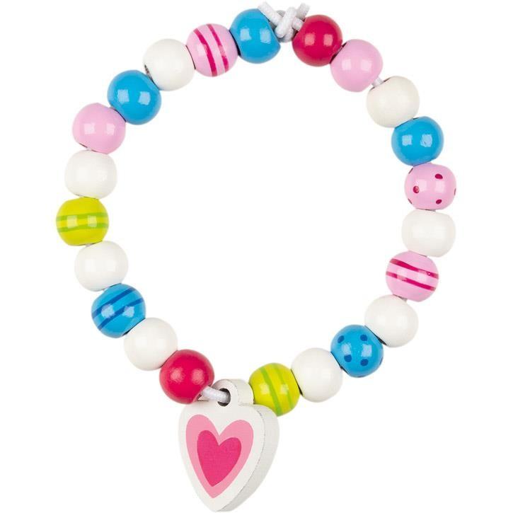 Goki Perlen mit Bändern, Susibelle 60784 4+ Holz