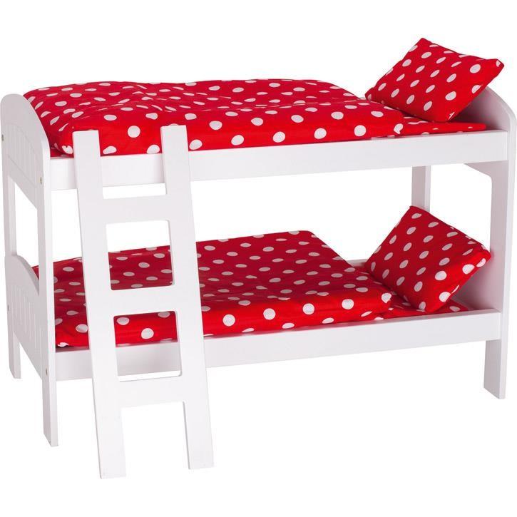 Goki Puppen-Etagenbett mit Leiter 51552 3+ Holz