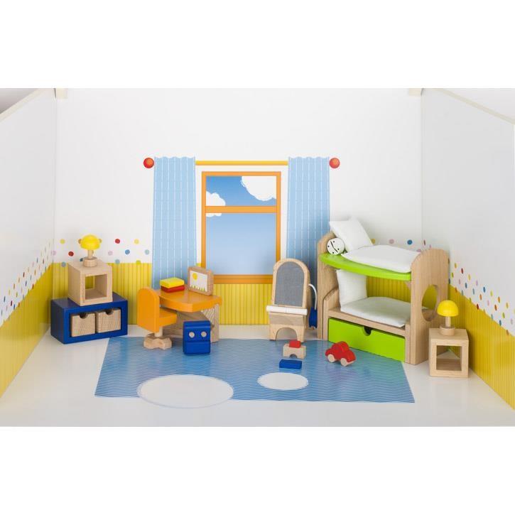 Goki Puppenmöbel Kinderzimmer 51746 3+ Holz, Textil
