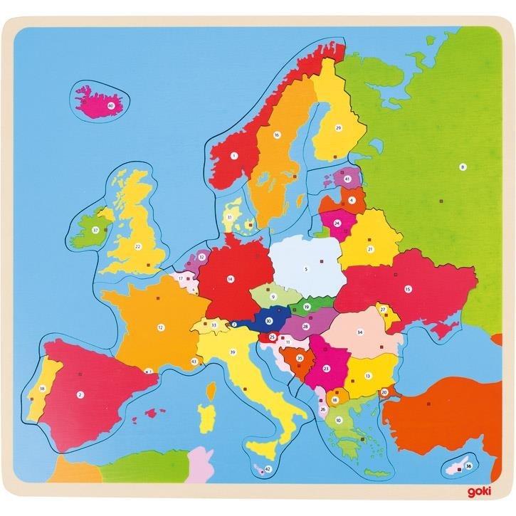 Goki Puzzle Europa 57509 5+ Holz
