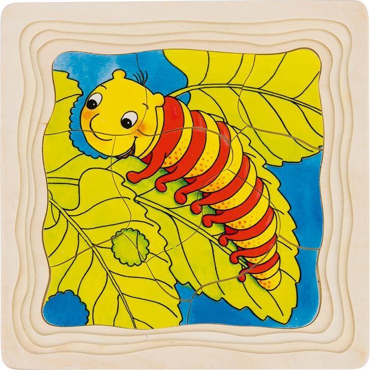 Goki Schichtenpuzzle Die Raupe 57523 3+ Holz