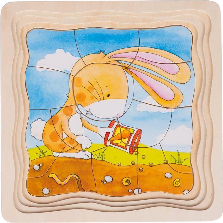 Goki Schichtenpuzzle Gemüsebeet 57495 3+ Holz
