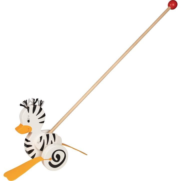 Goki Schiebetier Zebra-Ente 54959 1+ Holz