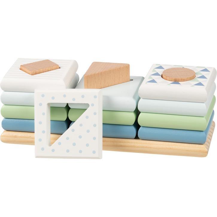 Goki Sortierspiel Farben und Formen, Lifestyle Aqua 58465 2+ Holz