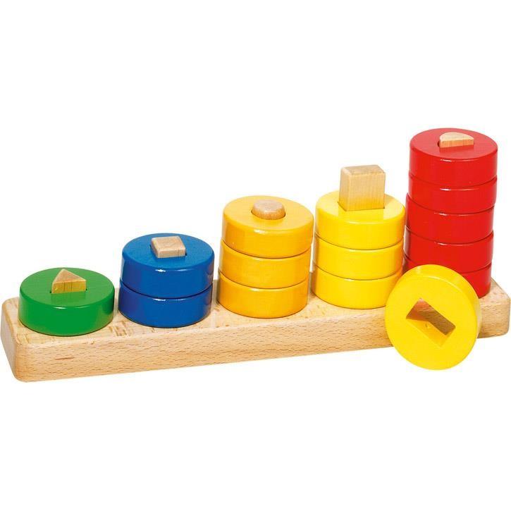 Goki Sortierspiel Lerne Zählen mit Ringen 58968 2+ Holz