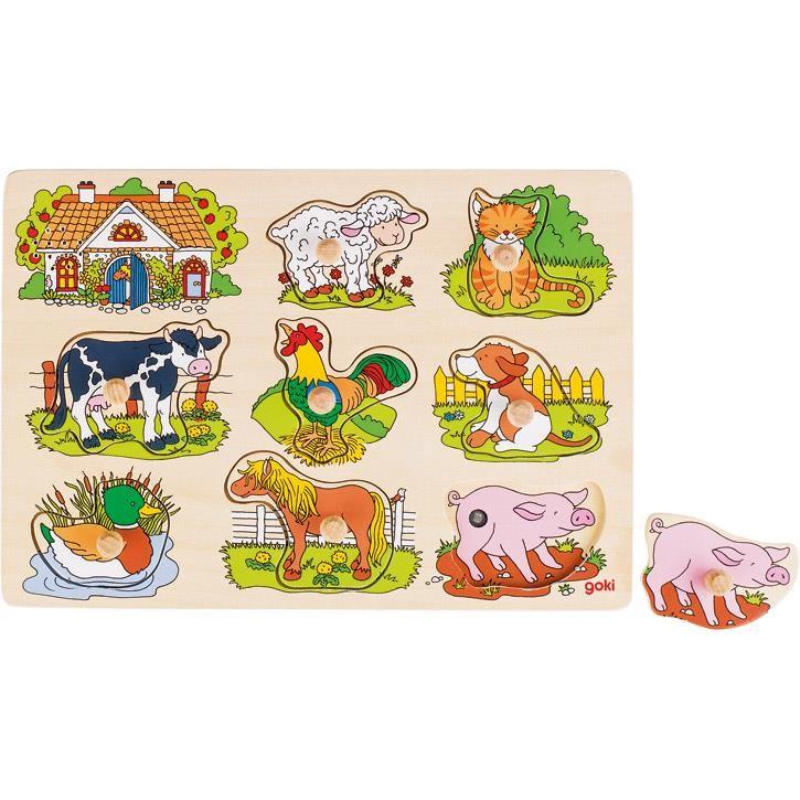 Goki Soundpuzzle Bauernhof, mit Tierstimmen, 57895 1+ Holz