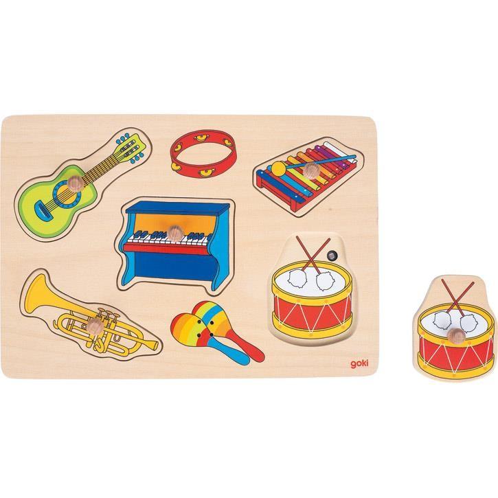 Goki Soundpuzzle Musikalien, mit Instrumentensounds 57520 1+ Holz