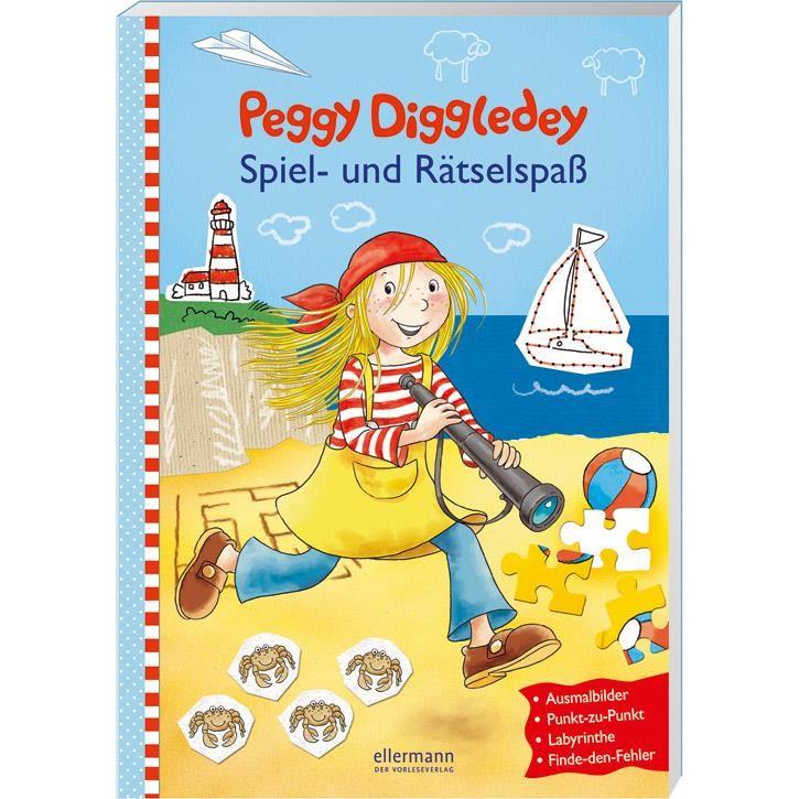 Goki Spiel-und Rätselspaßbuch, Peggy Diggledey 58785 5+ Papier