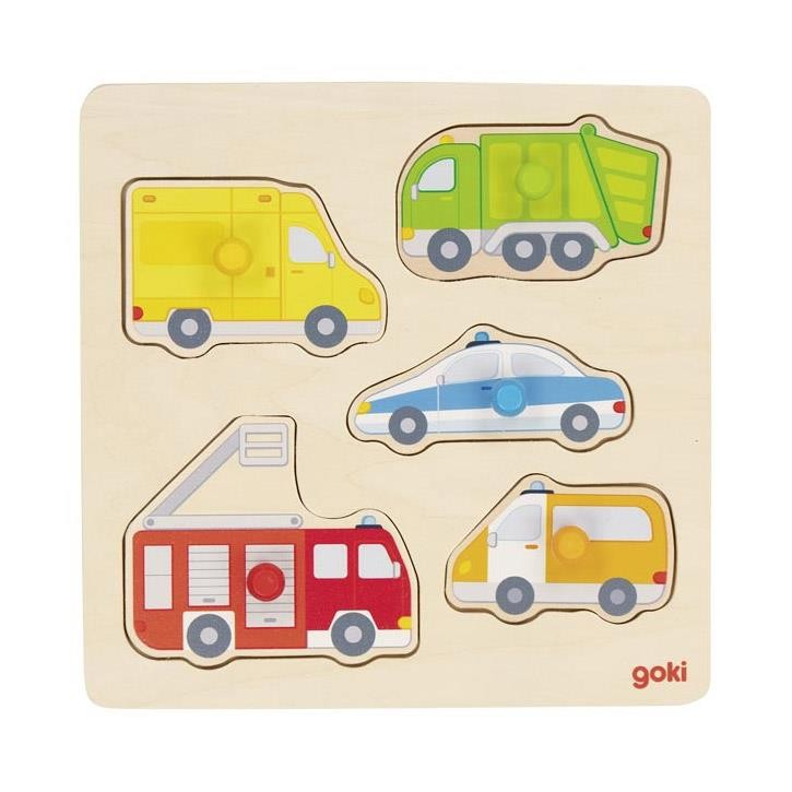 Goki Steckpuzzle Auf der Straße 57445 1+ Holz
