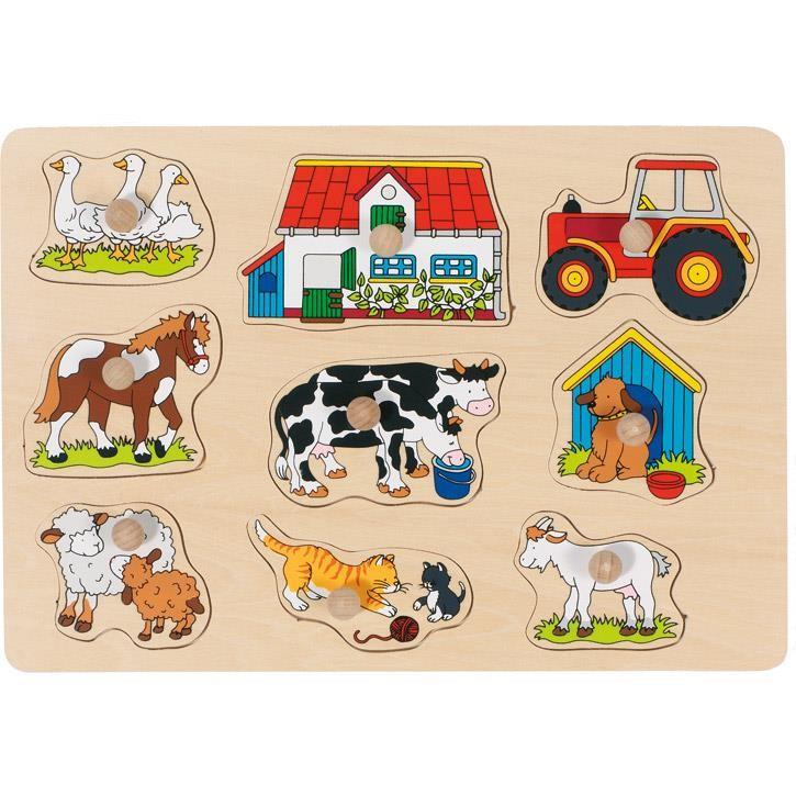 Goki Steckpuzzle Bauernhof I 57908 1+ Holz