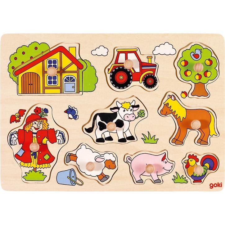 Goki Steckpuzzle Bauernhof VI 57995 1+ Holz