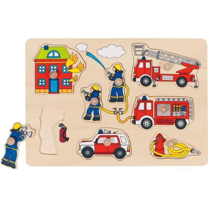 Goki Steckpuzzle Feuerwehr 57907 1+ Holz