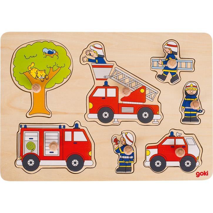 Goki Steckpuzzle Feuerwehreinsatz 57746 1+ Holz