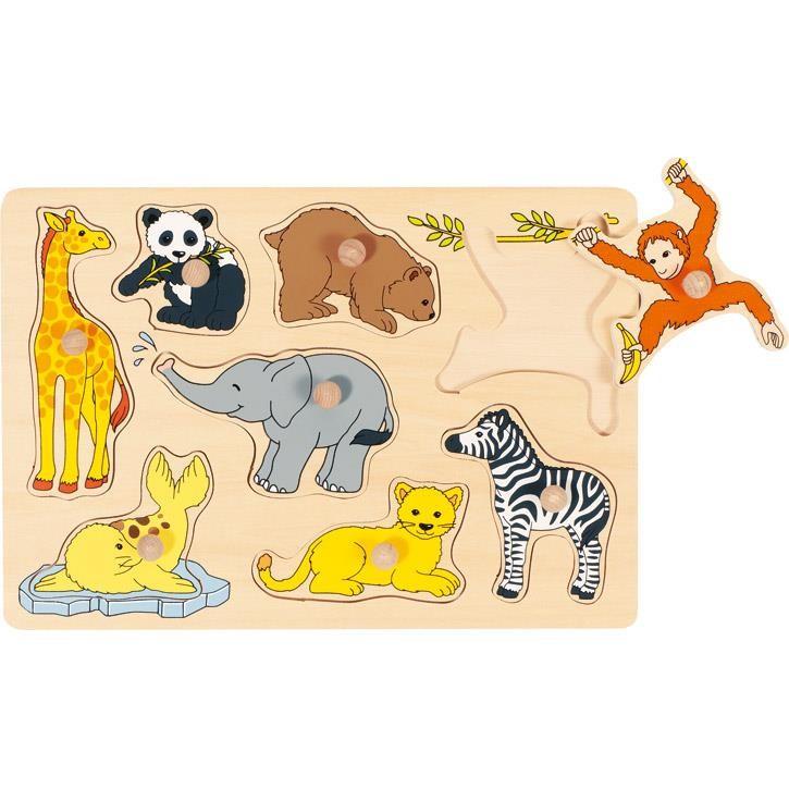 Goki Steckpuzzle Tierkinder 57906 1+ Holz